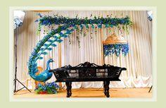 hindu wedding 2 Marriage Decoration, Wedding Stage Decorations, Festival Decorations, Cradle Decoration, Janmashtami Decoration, Cradle Ceremony, Wedding Photo Walls, Ganapati Decoration, Peacock Decor