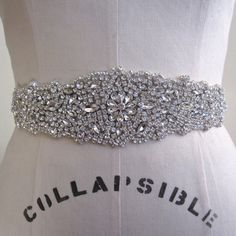 Bridal Beaded Crystal Wedding Sash/Belt by Bridalize on Etsy, $110.00