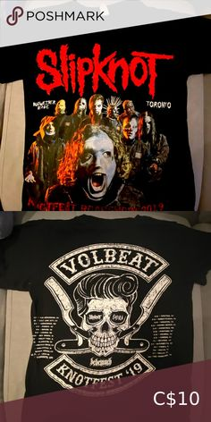 Slipknot 2019 Tour Merch Tshirt Got it at the concert! I have a lot of band merch... I already have my keychain as a souvenir of the concert at the Budweiser Stage in Toronto :) 🤘🏼🤘🏼 Tops Tees - Short Sleeve Band Merch, Band Tees, Open Back Shirt, Silk Handkerchief, Tour Merch, Tied T Shirt, Dazed And Confused, Ziggy Stardust, Training Tops