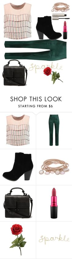 """""""Sparkle and be unique"""" by itsbree013 ❤ liked on Polyvore featuring Alexis, Rosie Assoulin, Marjana von Berlepsch, MAC Cosmetics and Ilia"""