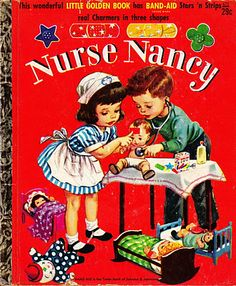 I had this Little Golden Book when I was little. It came with decorative Band Aids, something quite unusual back then. My mother was an RN, so that made the theme extra special.