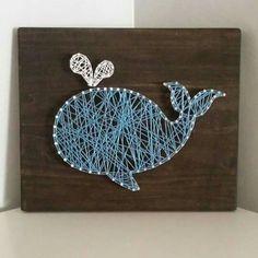 Cute whale string art