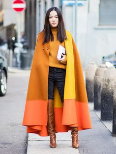 How to wear a cape? It's one of those conundrums that comes up every autumn, but we've got some street style answers for you.
