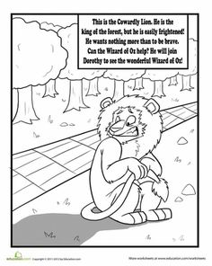 The Cowardly Lion Coloring Page