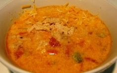 Chicken Cheese Enchilada Soup - Definitely not low-fat, but looks really good and easily modified for desired flavors.