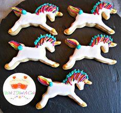 Rainbow Unicorn Cookies by Wish I Had A Cake
