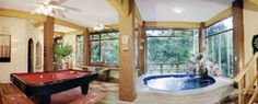 Jungle View Play Room, Game room with pool table and indoor pool with waterfall, Manuel Antonio, Costa Rica