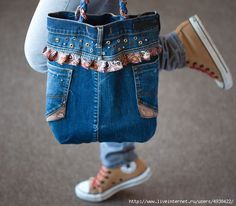 Old Jeans DIY: tutorial- jean purse
