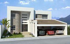 3d render fachada casa