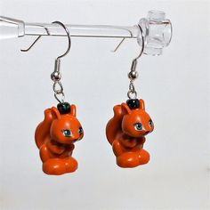 LEGO Squirrel Earrings by ValGlaser on Etsy, $22.00