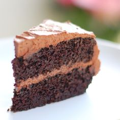 double chocolate cake w/ buttercream frosting