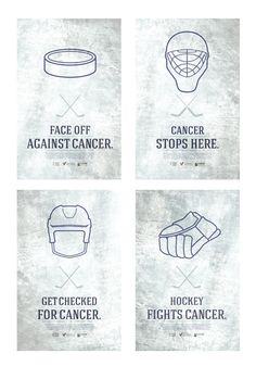 Hockey Fights Cancer Posters