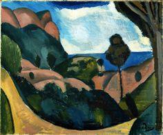 Andre Derain - Landscape near Cassis, 1907