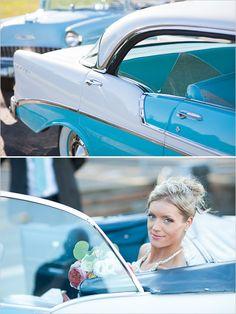 Wedding Getaway Car, Wedding Limo, Wedding Exits, Wedding Dress, Blue Wedding, Dream Wedding, Retro Wedding Theme, Nautical Wedding, Sweet Cars