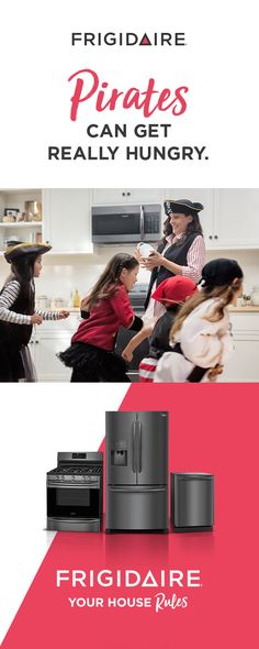 Treats ahoy! A pirate-themed party isn't everyone's way. It's your way. And no matter how you like to celebrate, we've got you covered. We offer a whole suite of Smudge-Proof™ Black Stainless Steel appliances that make running your kitchen your way a snap. Explore new ways to celebrate your home's awesomeness by visiting our site.