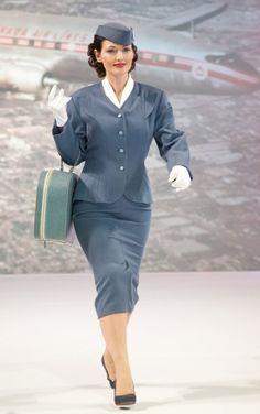 1960s Air Canada stewardess #flying