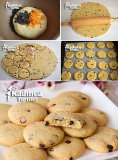 DAMLA ÇİKOLATALI PORTAKALLI KURABİYE TARİFİ http://kadincatarifler.com/damla-cikolatali-portakalli-kurabiye-tarifi