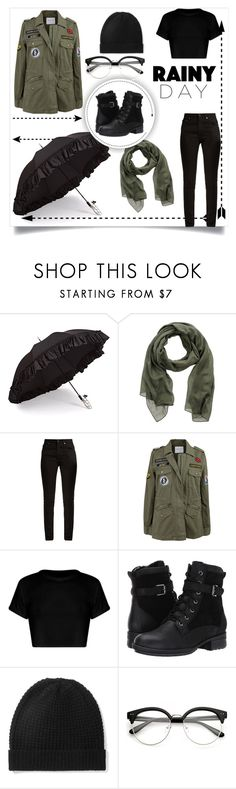"""""""Rainy day🌧"""" by chloe2277 ❤ liked on Polyvore featuring Gizelle Renee, Pieces, Yves Saint Laurent, Velvet by Graham & Spencer, Blondo and Madeleine Thompson"""