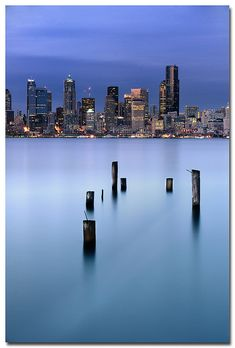 Seattle from Alki Beach by .Bala, via Flickr great restaurants off this beach with awesome views of downtown. #Seattle