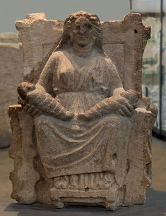 Mater Matuta. Grey tufa. 6th—2nd cent. BCE. Santa Maria Capua Vetere, Archaeological Museum of ancient Capua