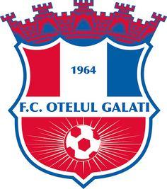 Fotbal Club Oțelul Galați | Country: România / Romania. País: Rumanía. | Founded/Fundado: 1964 | Badge/Crest/Logo/Escudo.