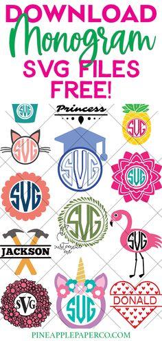 Cricut Monogram Font, Monogram Maker, Diy Monogram, Monogram Shirts, Monogram Decal, Monogram Frame, Monogram Fonts Free, Free Cricut Fonts, Monogrammed Ideas