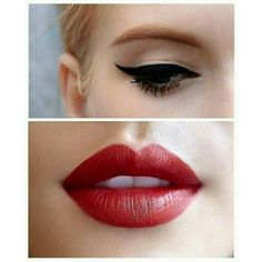 (2) vintage makeup dark red lipstick - Google Search | Wedding makeup... ❤ liked on Polyvore featuring beauty products, makeup, lip makeup and lipstick