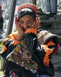 Kalash Girl during the Joshi Spring Festival  - Pakistan