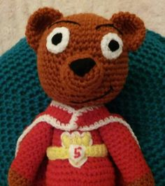 super ted plushie/stuffed toy/tv character/cartoon by bootneckbabies on Etsy