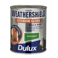 Dulux weathershield exterior glade green satin wood metal paint 750ml garage garage doors - Dulux weathershield exterior paint minimalist ...