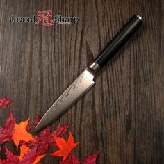 GRANDSHARP 5 Inch Utility Knife 67 Layers Japanese Damascus Stainless Steel VG-10 Core Sharp Chef Kitchen Tools G10 handle NEW