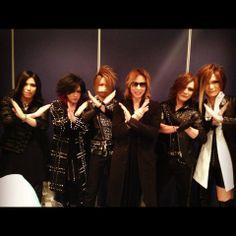 Aoi, Ruki, Reita, Yoshiki, Kai and Uruha. The GazettE and X Japan