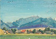Ľudovít Fulla - Dedinka Illustrator, Houses, Artists, Painting, Inspiration, Homes, Biblical Inspiration, Painting Art, Paintings