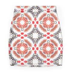 """Pattern ""Abstract ethnics"" "" Pencil Skirts by floraaplus 