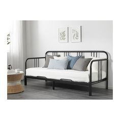 FYRESDAL Daybed with 2 mattresses IKEA Two functions in one - sofa in the day and bed at night.