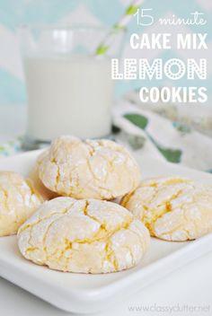 Lemon Yellow Cake Mix Cookies