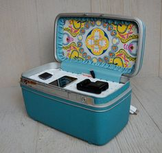 vintage suitcase docking station || thinking outside the box; what else could I use?!?