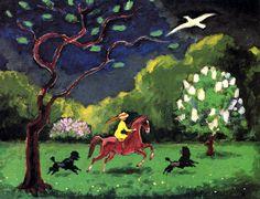 Woman on Horseback in a Landscape Kees Van Dongen