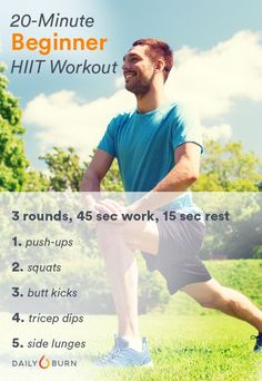 Starting your journey back to fitness? Try these three quick and efficient HIIT workouts designed specifically for beginners. via @dailyburn