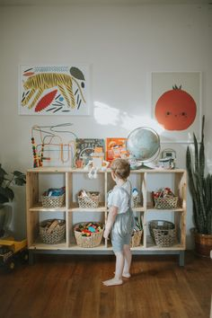 noble carriage interview with calivintage - montessori at home, montessori shelving