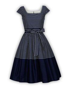 bc3140945866 Plus Size Navy Dress Sailor Dress Nautical Dress Stripe Dress Summer Dress  Sun Dress Holiday Dress