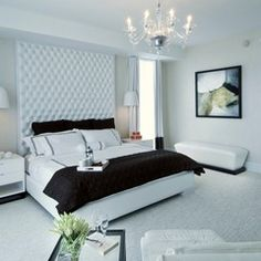 Ceiling height headboard
