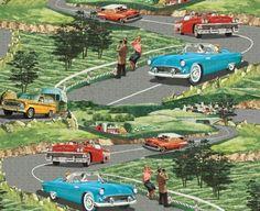 Vintage Road Trip, a fab 1950's print