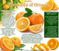 The Amazing Health Benefits of Oranges...