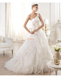 Een schouder Mouwloos Natuurlijk Bruidsmode 2014