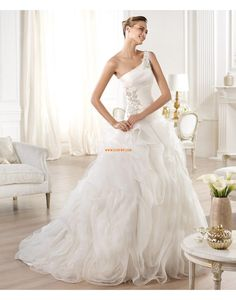 Kirche Princess-Stil 1-Schulter Brautkleider 2014