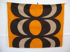 60s Danish Modern Style MARIMEKKO Textile Wall Art FABRIC Panel. $65.00, via Etsy.