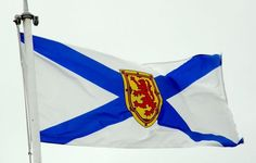 The Nova Scotia flag is the modern Canadian province flag with a blue saltire on a white field, is a simple reversal of the flag of Scotland. Nova Scotia, Canadian Facts, Canadian Things, Flag Of Scotland, Annapolis Valley, East Coast Road Trip, Canada Eh, Custom Flags, Newfoundland