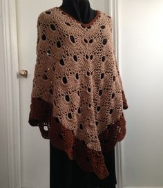 Crochet Virus Poncho made of Pretty Shells by HandmadebyHeikeHeart