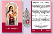 Prayer Booklet to St. Theresa with Relic Medal. Catholic Medals, Catholic Gifts, Prayer Verses, Prayer Cards, Free Prayer Request, St Therese Of Lisieux, Verses For Cards, Christian Gifts, God Jesus